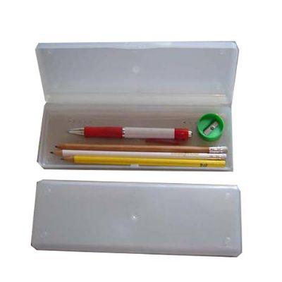 estilo-brindes - Kit escolar com estojo de plástico
