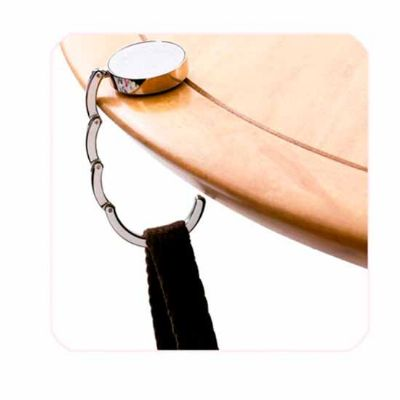 Creative Design - Porta bolsa dobrável para mesa em metal.