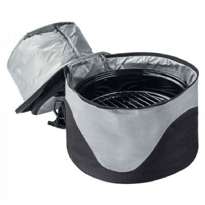 Bolsa em poli�ster 600D com churrasqueira port�til e compartimento t�rmico com solda interna para evitar vazamentos. Possui al�a de m�o e para o ombro...