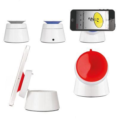 Creative Design - Suporte de sucção para telefone celular com alto-falante, conexão por fio e bateria recarregável por USB.