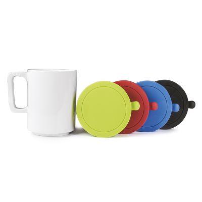 Creative Design - Caneca de porcelana com tampa de silicone.