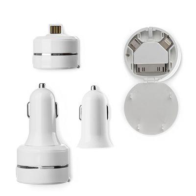Creative Design - Tomada USB para Carro com Adaptador de 3 saídas (Micro USB, Iphone 4 e Iphone 5) - 77 x 40 mm.