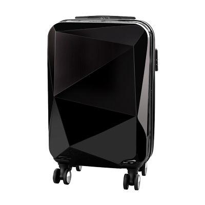 """Creative Design - Mala rígida modelo """"Diamante"""" em ABS e Policarbonato. Possui 4 rodas e trava com segredo no zíper."""
