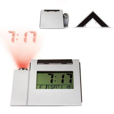 Creative Design - Relógio digital de mesa com alarme, temperatura, calendário e projeção da hora na parede/teto.