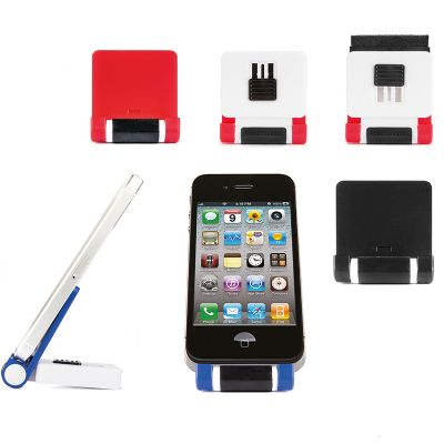 Creative Design - Suporte para telefone celular com almofada para limpar a tela.