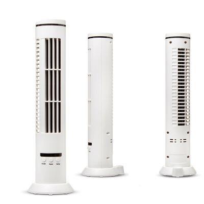 """Creative Design - Ventilador de Mesa Modelo """"Torre"""" - 3 velocidades - giratório 90' -  3xAA ou cabo USB - 90x330mm."""