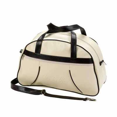 Bolsa de viagem confeccionada em couro sintético