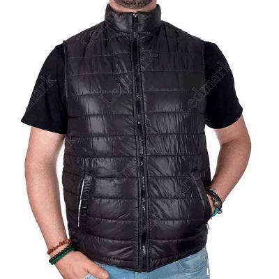 Colete modelo Puffer em tecido especial Brilhante com forro de microfibra, 02 bolsos e zíper fron...