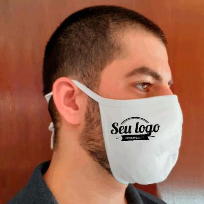 Máscara Lavável com 2 camadas de malha