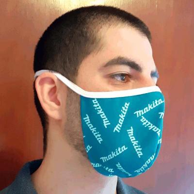 Máscara lavável camada dupla com arte sublimada