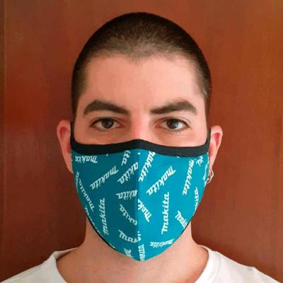 Máscara Lavável com 2 camadas e Sublimada