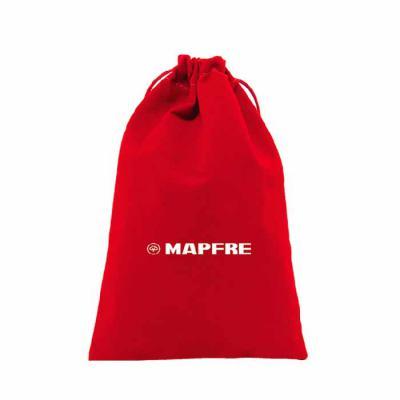 Embalabrindes - Saco de veludo vermelho com cordão de nylon.    Tamanho: Personalização de acordo com a necessidade do cliente. Acabamento de impressão: Silk Screen....