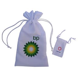 Embalabrindes - Embalagem personalizada em tactel e embalagem em brim.