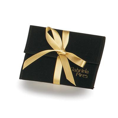 embalabrindes - Embalagem em veludo com modelo envelope.