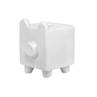 Cofre porquinho quadrado - D.Kore Porcelanas
