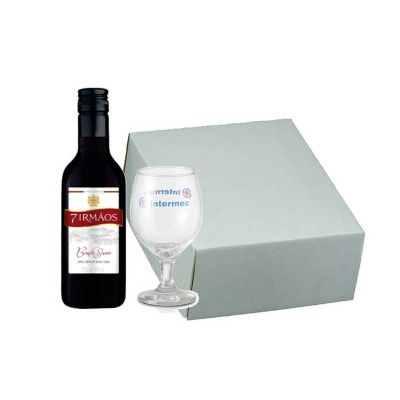 Kit vinho em caixa