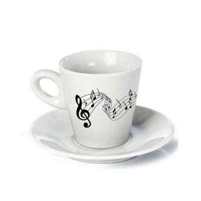 Xícara de café com pires cônica 80ml branca