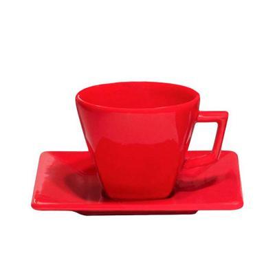 d-kore-porcelanas - Xícara de Café com pires Quartier 75ml Vermelha