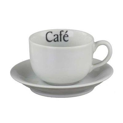 Xícara de chá personalizada com pires Voyage 200ml