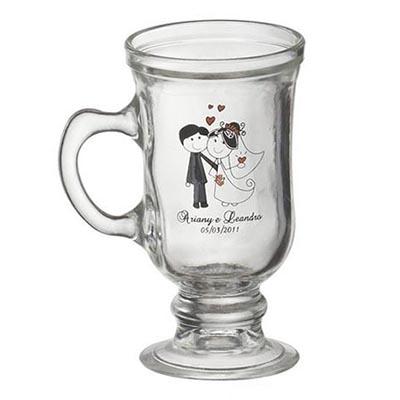 D.Kore Porcelanas - Caneca Personalizada Irish Coffee - 120 ml. Sua marca presente no dia a dia dos clientes.