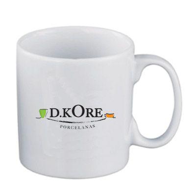 d-kore-porcelanas - Caneca Reta Branca 300 ml