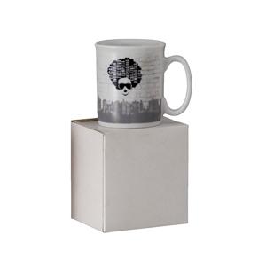 d-kore-porcelanas - Caneca Personalizada Reta Mini - 120ml - com Caixa em Craft.
