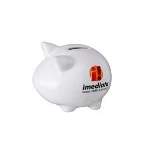 d-kore-porcelanas - Cofre de porcelana porquinho personalizado .