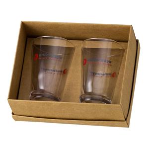 D.Kore Porcelanas - Kit Personalizado em Caixa Craft com Berço - Contendo 02 Copos Calderetas - 350 ml.