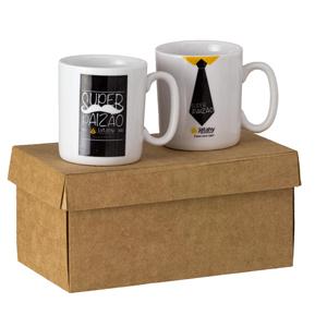d-kore-porcelanas - Kit Personalizado Contendo 02 Canecas Mini - 200 ml.