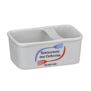 D.Kore Porcelanas - Porta Adoçante Personalizado com Divisória.