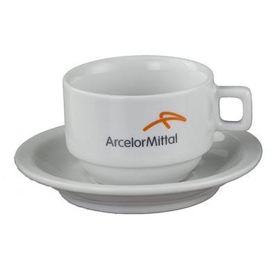 D.Kore Porcelanas - Xícara de café com pires Prohotel 75ml.