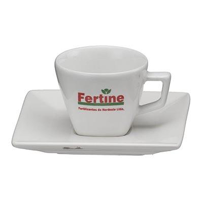 Xícara de café com pires Quartier 80ml. - D.Kore Porcelanas