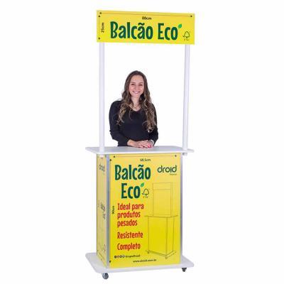 Produzido em MDF, com madeira reflorestada, o Balcão Promocional ECO, é a forma mais sofisticada ...