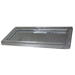 For Import - Bandeja espelhada com medidas de 22x12cm