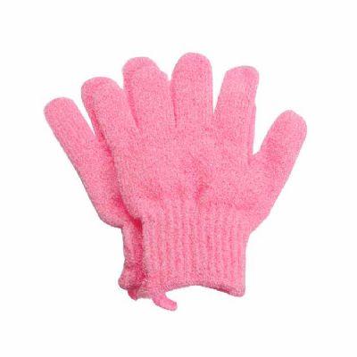 For Import - Luva para esfoliação rosa claro (par)