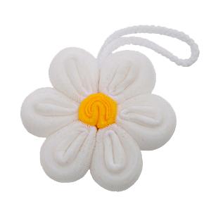 Esponja de banho formato de flor branca