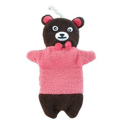 For Import - Bucha para banho de luva formato de urso