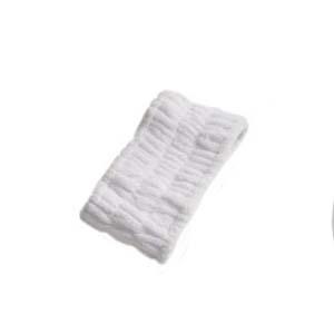 For Import - Faixa  em microfibra para cabelo - Branco - Tamanho: Médio