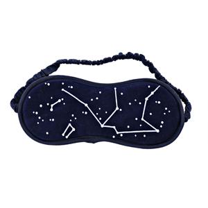 Máscara personalizada para descanso dos olhos, com desenho de estrelas.