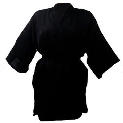 For Import - Roupão quimono preto tamanho médio.