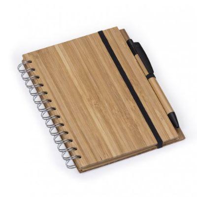 Caderno notas bambu