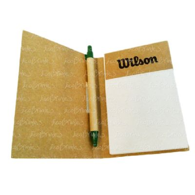 Ecobrindes - Bloco kraft caneta