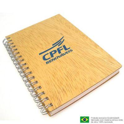 Mini caderno de madeira