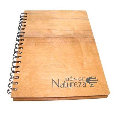 Ecobrindes - Caderno madeira