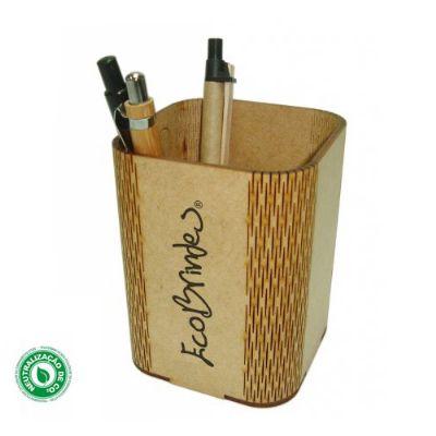 Ecobrindes - Porta-caneta quadrado Flex
