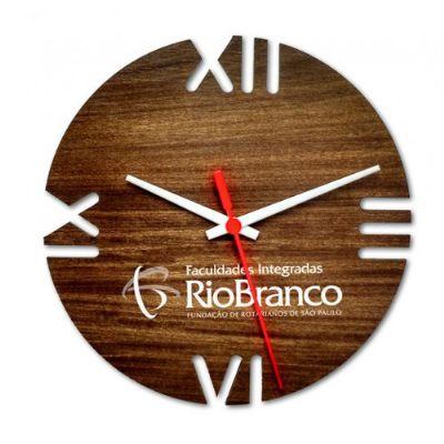 ecobrindes - Relógio de parede redondo Ipê