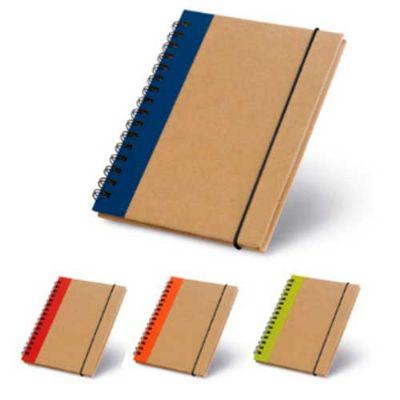 JKMN'S Brindes Promocionais - Caderno capa dura com 60 folhas não pautadas de papel reciclado