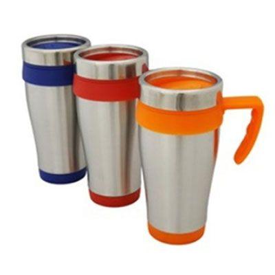 JKMN'S Brindes Promocionais - Caneca térmica com capaciadade para 400 ml com tampa