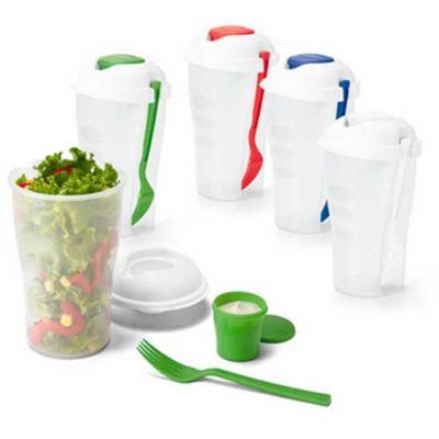 JKMN'S Brindes Promocionais - Copo para salada com garfo e molheira
