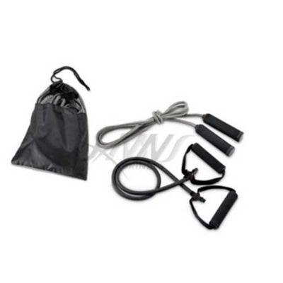 JKMN'S Brindes Promocionais - Kit Fitness contendo elástico de fortalecimento e corda pula cordas.
